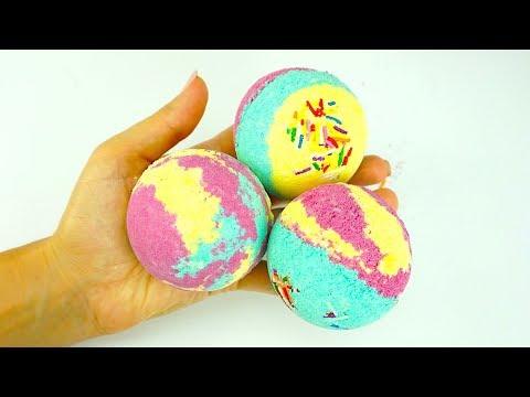 Видео для детей учим цвета и делаем бомбочки