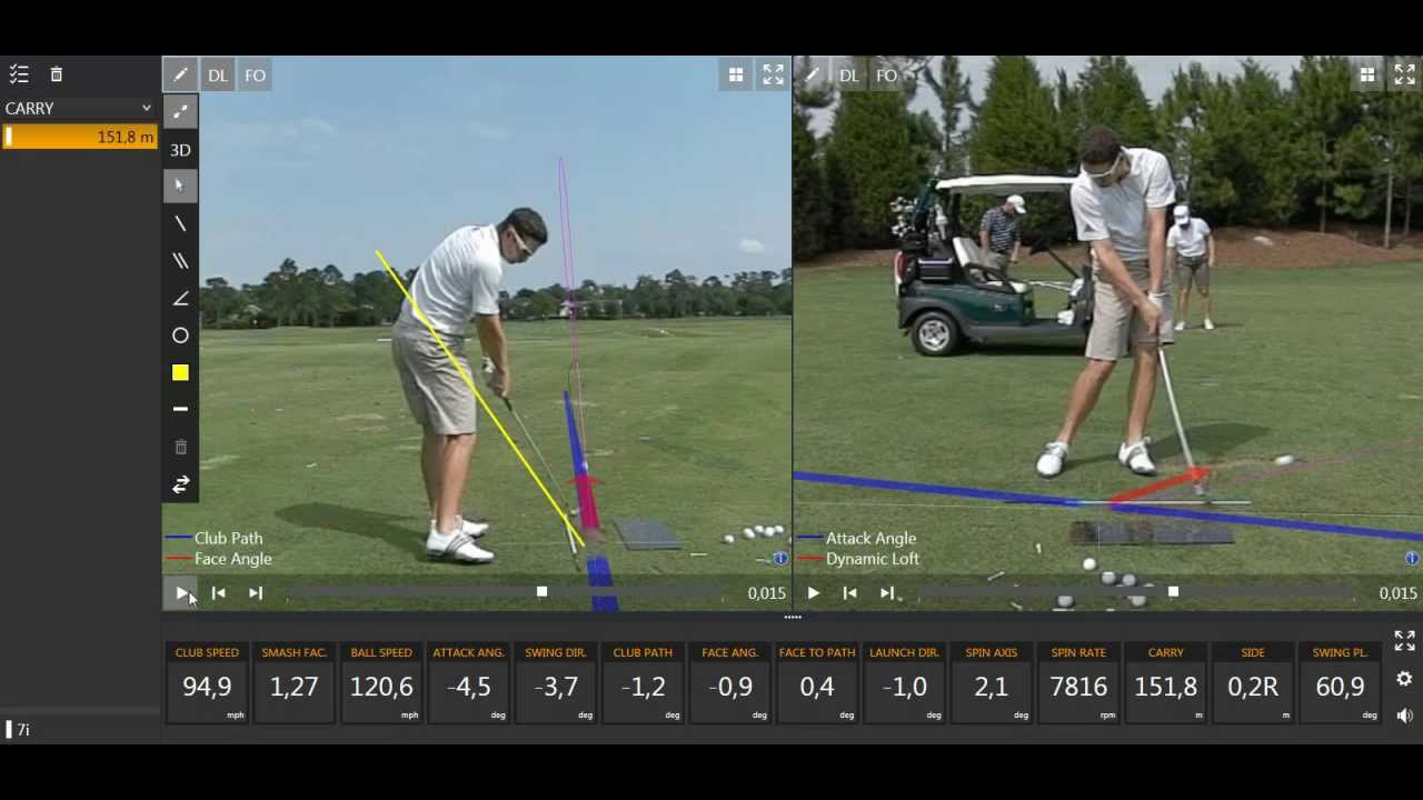 justin rose swing with trackman data youtube