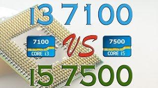 i3 7100 vs i5 7500 benchmarks gaming tests review and comparison kaby lake vs kaby lake