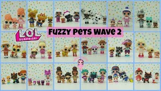 LOL Surprise Fuzzy Pets Complete Set Wave 2 with Weight Hacks Kids Toys