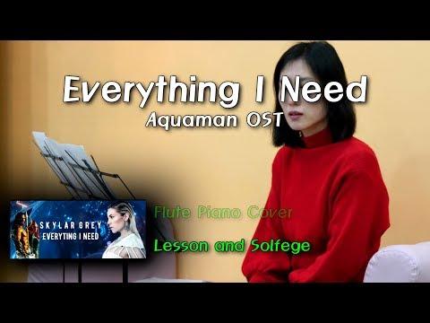 Everything I Need - Lesson And Solfege - Skylar Grey, Aquaman OST - Chords Sheet Lyrics 코드 악보 가사
