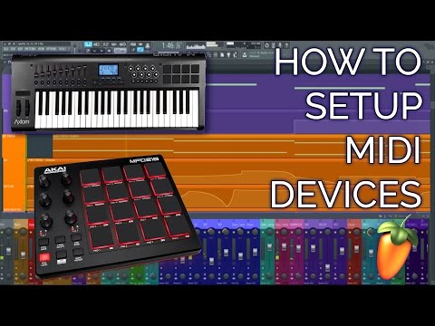 How To Setup A MIDI Controller (Keyboard or Drumpad) FL