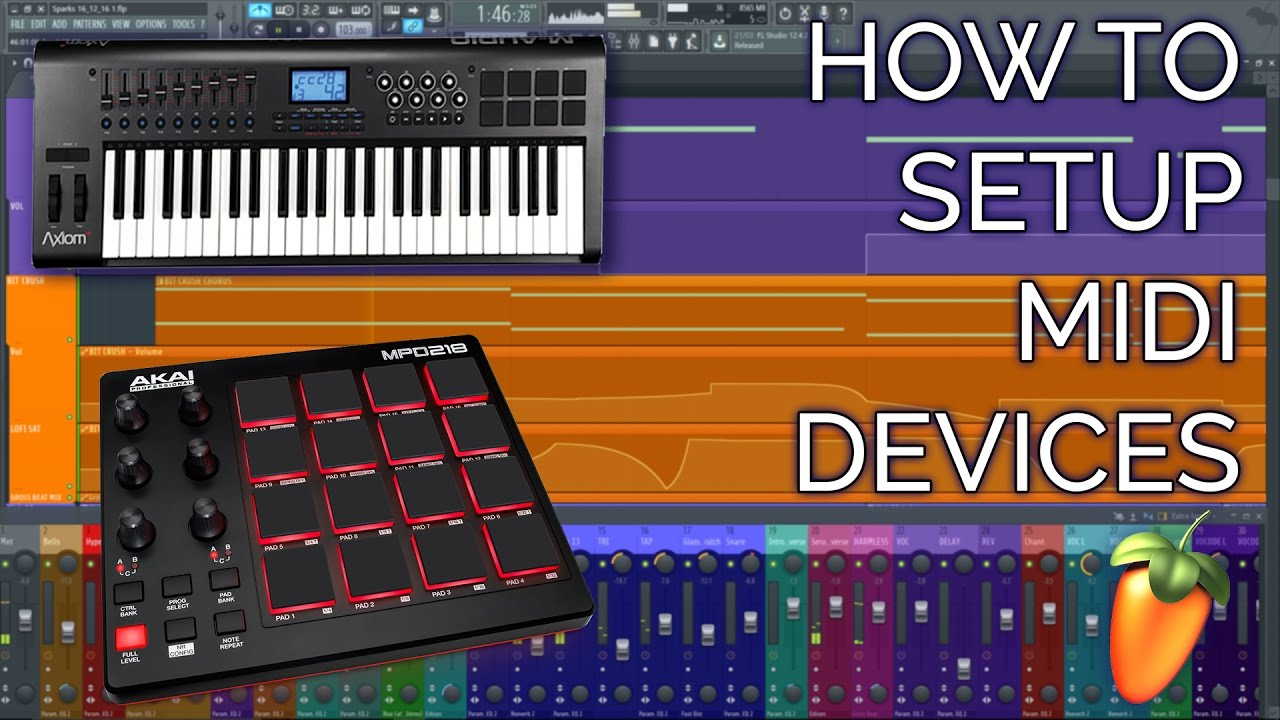 how to setup a midi controller keyboard or drumpad fl studio 12 basics youtube. Black Bedroom Furniture Sets. Home Design Ideas