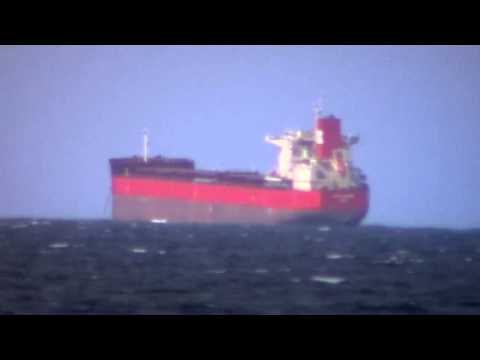 Cargo Ships Out At Sea