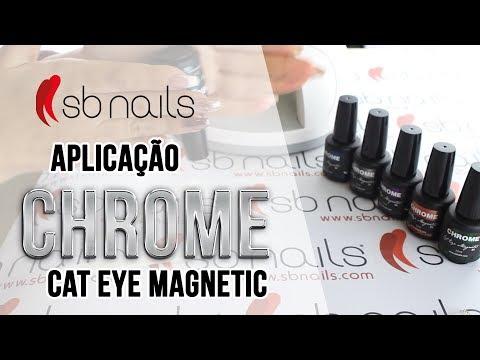 Aplicação Do Verniz De Gel Chrome Cat Eye Magnetic