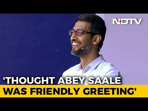 Thought 'Abey Saale' Was Friendly Greeting, Says Sundar Pichai At IIT