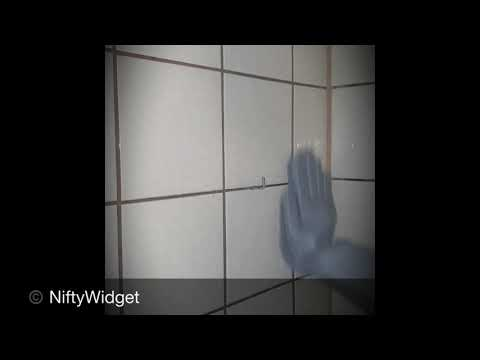 Cleaning Bathroom Tiles with Original Magic Silicone Gloves by NiftyWidget
