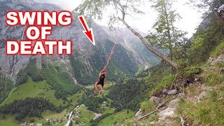 SWING ON EDGE OF MASSIVE CLIFF!!!  Proximity 2 Piece Tracking