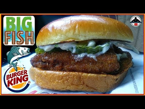 Burger King® | Big Fish Sandwich Review! 🍔👑🐟