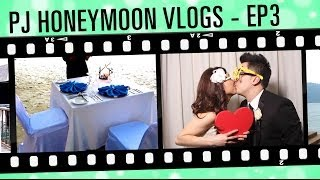 Our Honeymoon Vlogs - Episode 3. CANDLELIT DINNER BY THE BEACH!