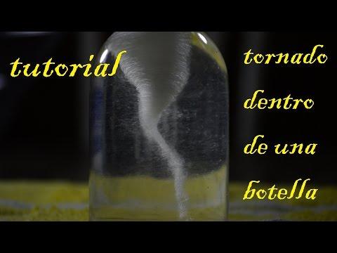 Como hacer un tornado dentro de una botella (Facil de hacer)