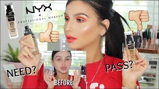 NEW NYX COSMETICS CANT STOP WONT STOP FOUNDATION ⎮REVIEW, DEMO