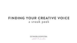 Finding Your Creative Voice E-Course