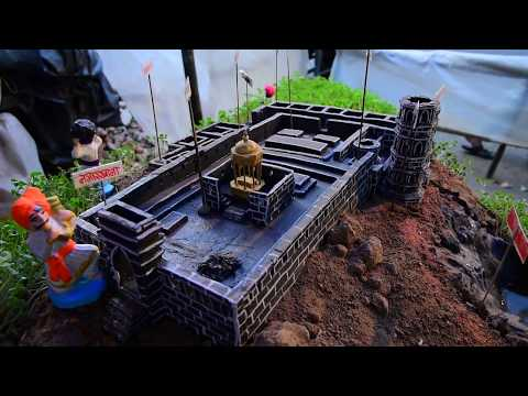 how to make raigad fort.!! award winning clay model of raigad fort !! raigad fort