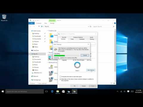 Windows 10: Maintenance and Disk Space Clean Up