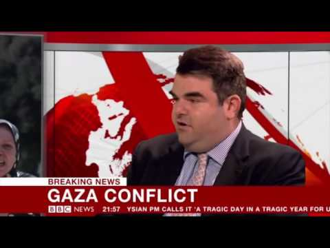 BBC News 24: Gaza Conflict discussion with Davis Lewin