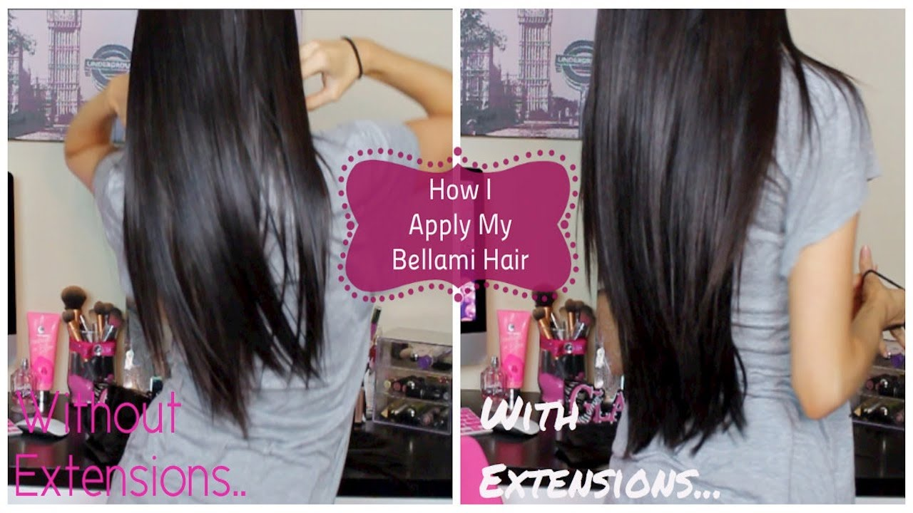 How I Apply My Bellami Hair Extensions - YouTube 0bad6a8db1b7