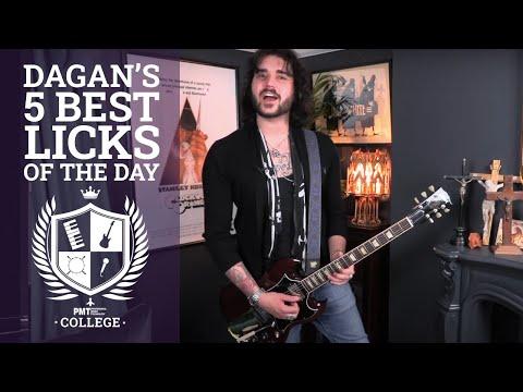 Dagan's 5 Best Guitar Licks Of The Day - Best Of Lockdown Live - 5 Essential Guitar Licks!