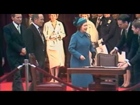 Signing of the Canadian Charter of Rights and Freedoms 1982