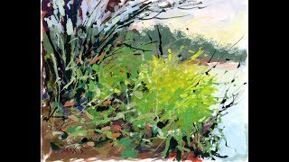 "Artist Sarkis Antikajian's Landscape TIMELAPSE Gouache Painting Demo:  ""Goodpasture Island Ponds"""