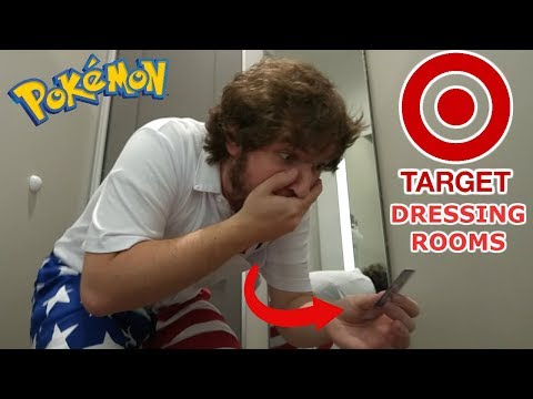 SNEAKING POKEMON CARDS INTO DRESSING ROOM AT TARGET