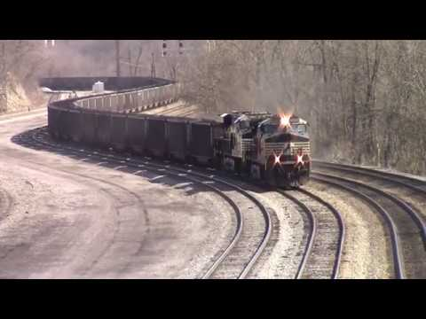 NS Empty Coal Train Coming Into Bluefield Yard In Bluefield WV