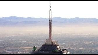 """Insane Free Fall """"BIG SHOT"""" HD POV [1,081 FEET] Stratosphere Las Vegas"""