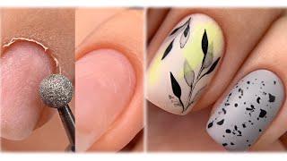 Наращивание без форм Аппаратный маникюр Дизайн ногтей акварель