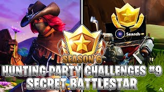 SECRET BATTLESTAR LOCATION! Week 9 Hunting Party Challenges (Fortnite Season 6)