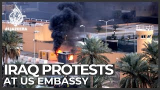 Iraq protests: Popular Mobilisation Forces supporters surround US embassy