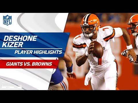 DeShone Kizer's Best Plays Against New York | Giants vs. Browns | Preseason Wk 2 Player Highlights