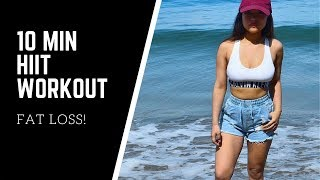 10 MINUTE HIIT ABS WORKOUT AT HOME FOR FAT LOSS