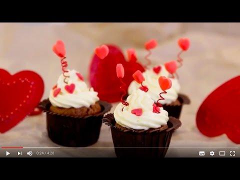 Mini Cupcakes Zum Valentinstag Youtube