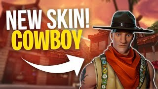 Fortnite NEW EPIC SKIN Cowboy Gameplay Sash Sergeant
