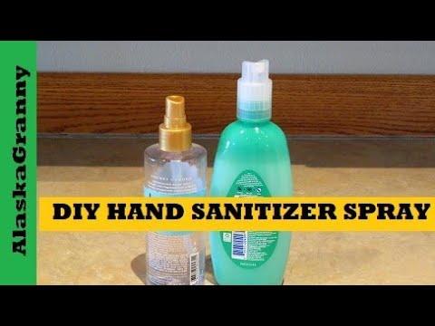 Diy Hand Sanitizer Spray Homemade Hand Sanitizer Recipe Youtube
