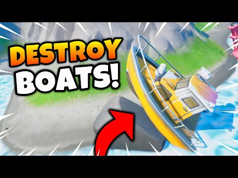 Fortnite BOATS and MOTORBOATS Location! Destroy Boats/Destro