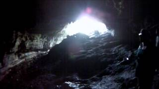 Blowing Cave; Path to the Cave and just Inside the entrance, and Exiting