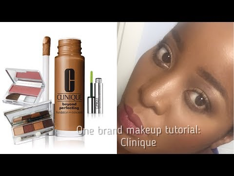 ONE BRAND MAKEUP TUTORIAL || CLINIQUE MAKEUP FOR WOMEN OF COLOUR