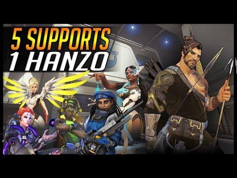 5 SUPPORTS 1 HANZO ft. #1 Hanzo 'WRAXU'