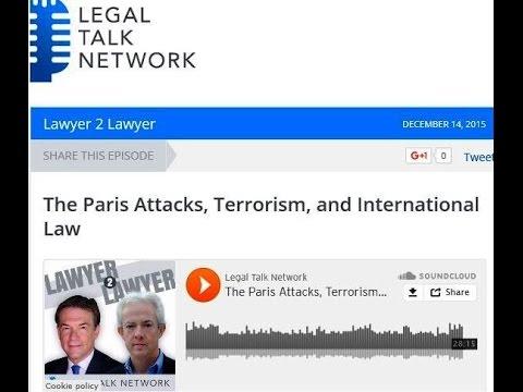 Legal Talk Network Interview - Lyal S Sunga - Terrorism -International Law