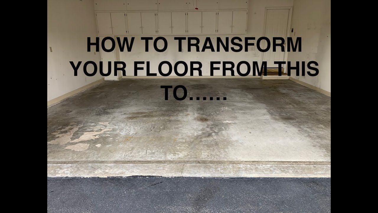 Transforming Another Garage Floor  FB-414 Flakes With Medium Gray Epoxy