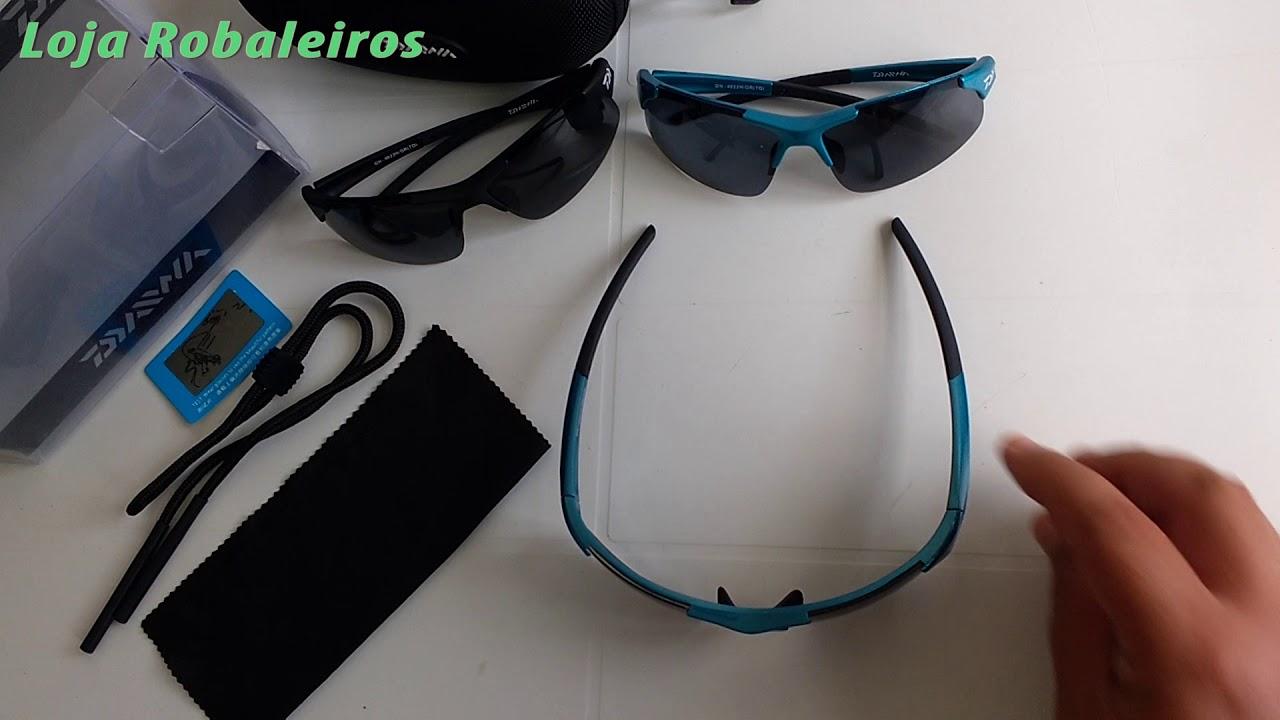 Óculos de sol DAIWA para Pesca polarizado 100% proteção UVA UVB ... bc75648165