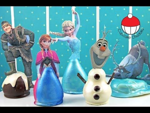 アナと雪の女王のケーキポップスの作り方|カップケーキ中毒のチュートリアル - Frozen