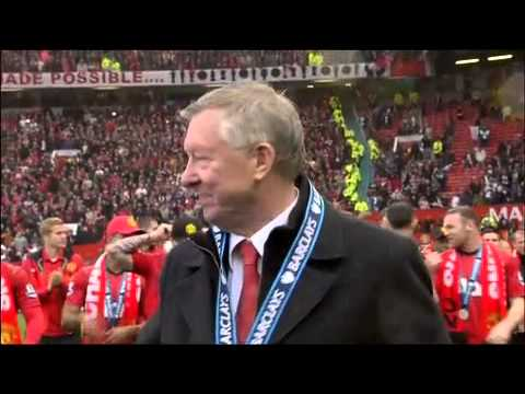 Manchester United lap of honour after winning the 20th title!