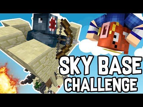 INSANE SKY BASE CHALLENGE in BEDWARS!! - Minecraft Mini Game