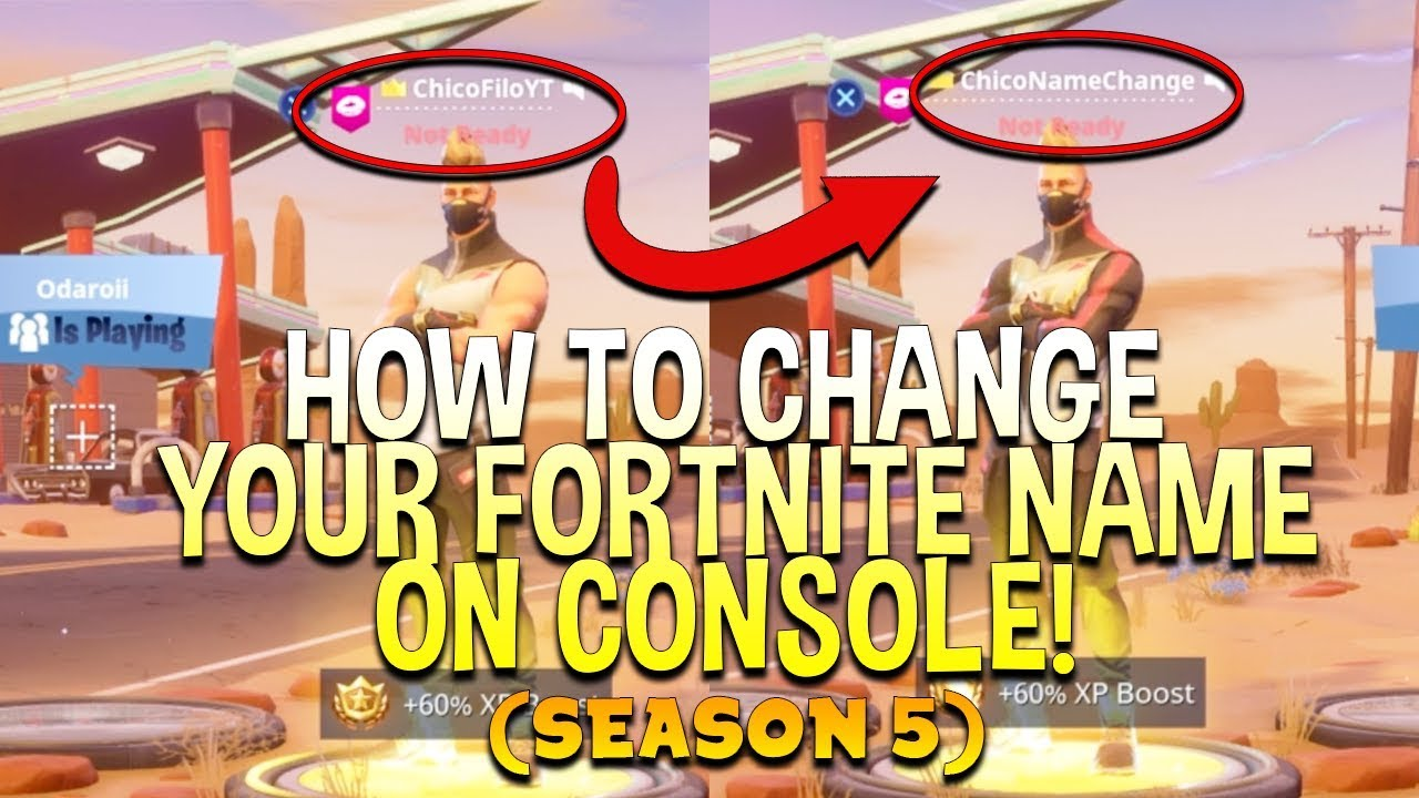 new how to change your fortnite name on console season 5 for free works for ps4 and xbox - how to change your username on fortnite xbox