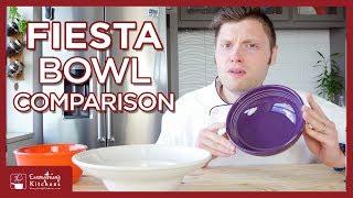 Fiesta Bowl Comparison - Salad Bowls, Cereal Bowls, Bistro Bowls, and More