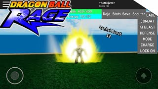 ROBLOX [Dragon Ball Rage] Bug of the Infinite Ki, and Zenkai 12!