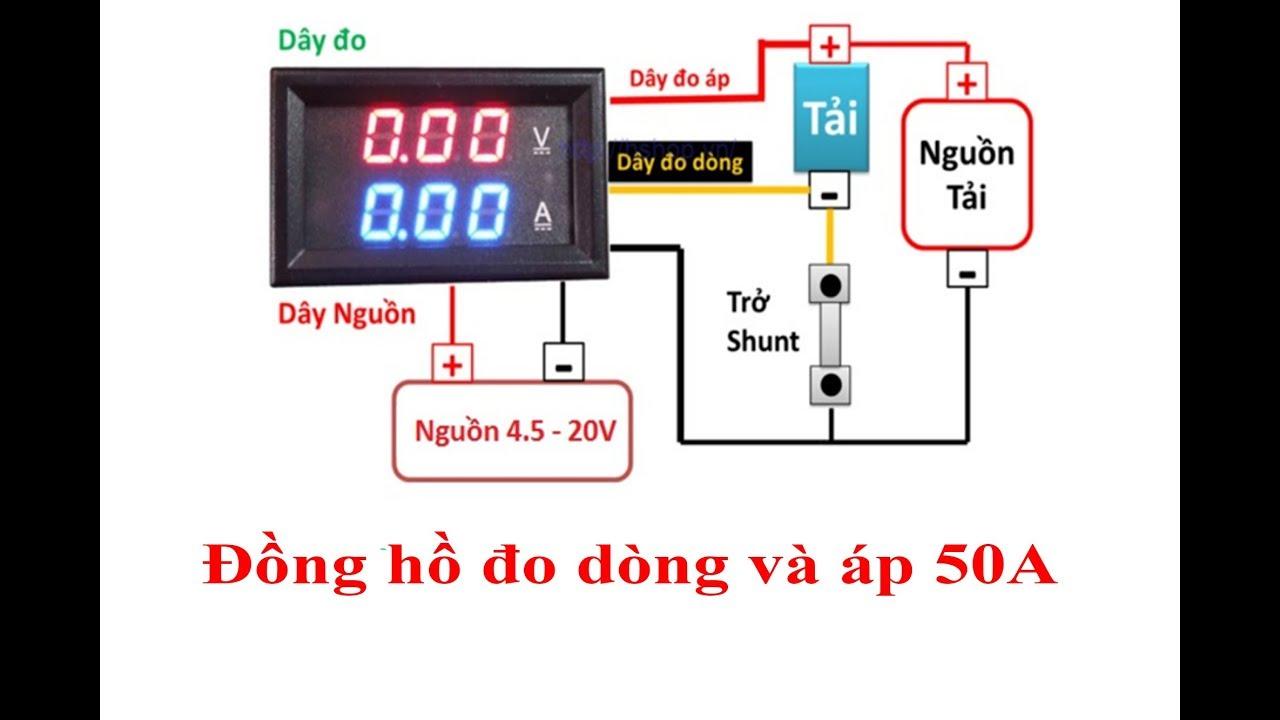 Làm đồng hồ đo dòng và áp 50a