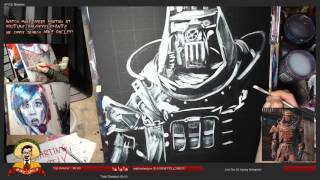 Fallout 4 - Cage Armor Speed Painting